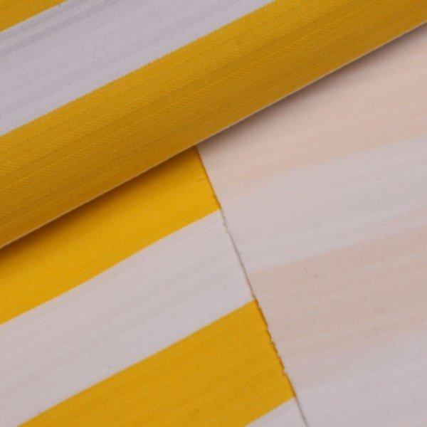 Köper Streifen breit bedruckt - gelb-weiss (+ gewobenes Streifenmuster)
