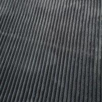 Fleece, Streifenlook, uni, grau
