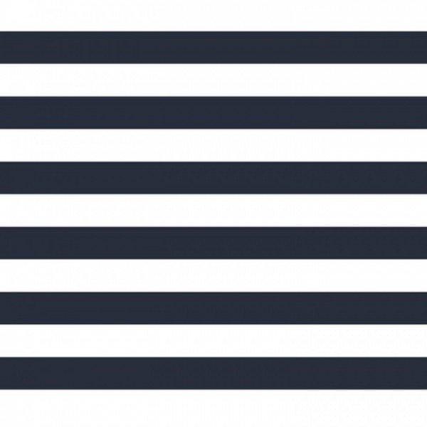 Popeline Stripe - col. 002 navy/weiß