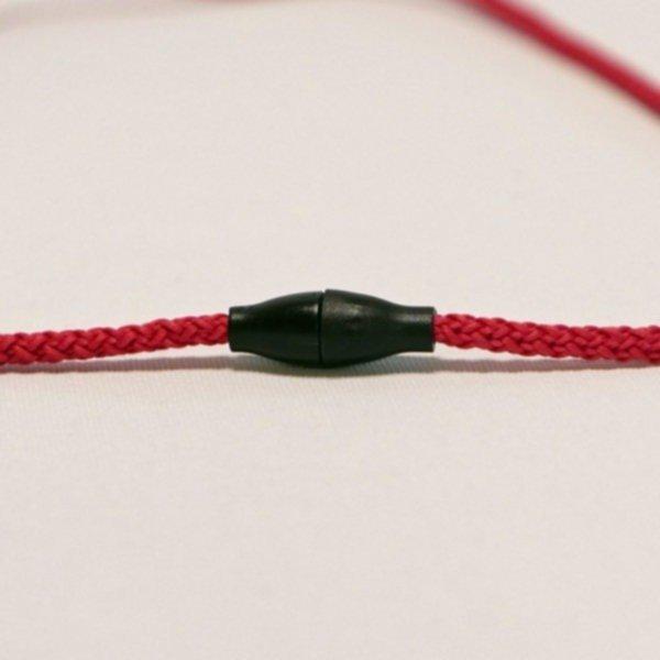 Kordel-Abschluss (Verbindung), 1 Paar - schwarz (für 3-6mm Kordel)