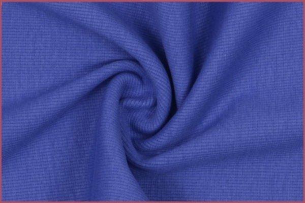 Feinstrickbündchen, uni blau