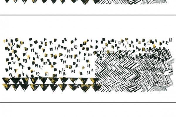 Scuba, grafische Muster, schwarz gold weiss, Milliblu`s