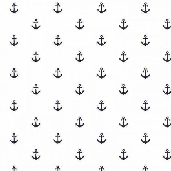 Double Gauze Design Anchor - col. 001 weiß/navy