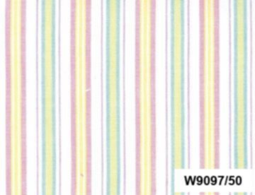 BW-Stoff Utrecht Streifen weiss, rosa, gelb, grün