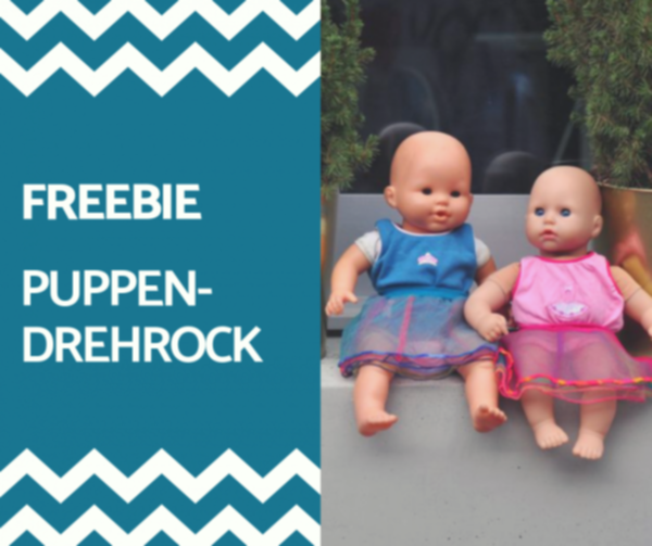 FREEBIE! Schnittmuster Puppen-Drehrock