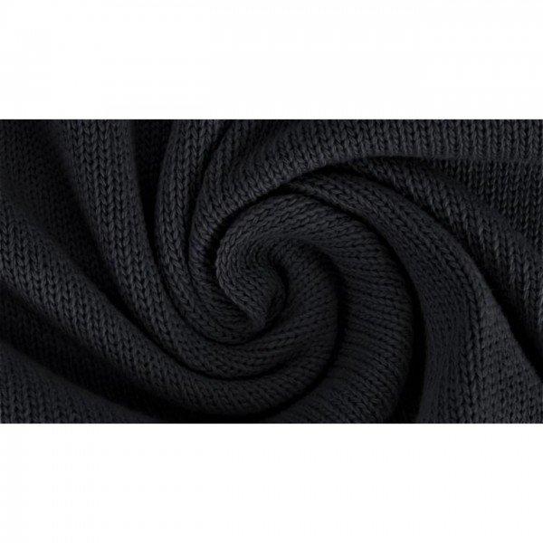 """Strickstoff """"Knitted Cotton Uni"""" - col. 0069 schwarz"""