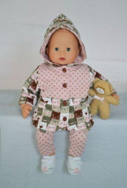 Anleitung & Schnittmuster für Puppen-Wendejacke und Leggins Elisa