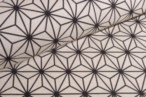 Canvas Geo Star schwarz/nature