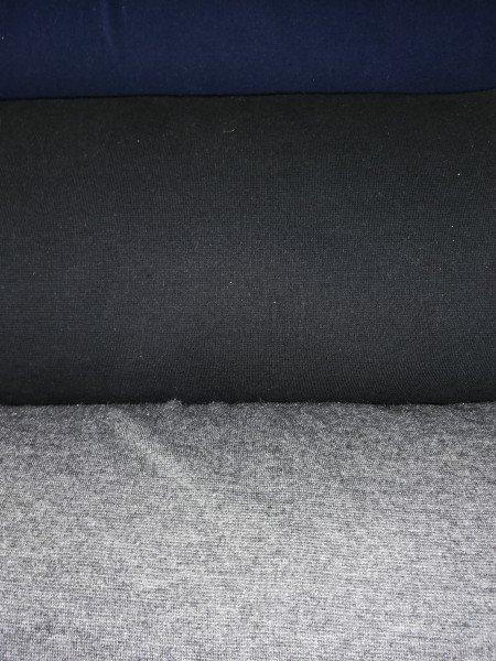 Bündchen Tricot im Schlauch uni gefärbt schwarz