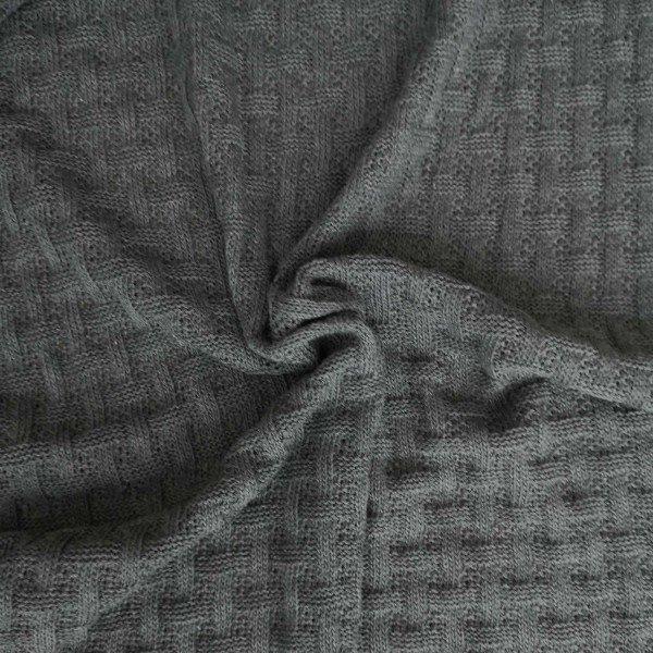 Grobstrick Sweet Home, Woven Knitty, carbon-melange, Hamburger Liebe (Albstoffe)