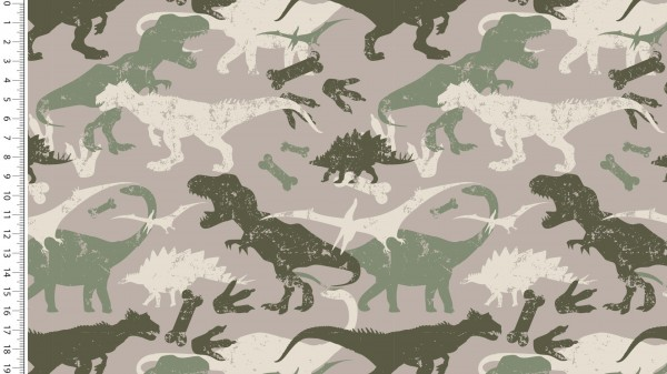 French Terry Dino - col.1553 taupe