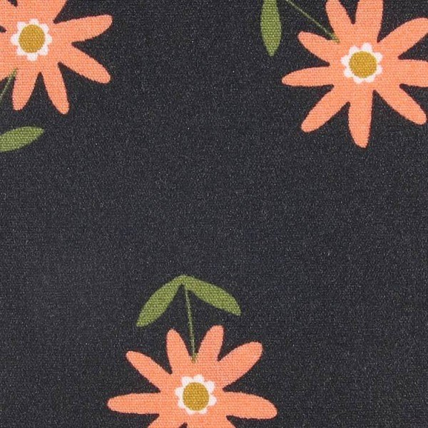 Coated Cotton Flowers - col. 002 black