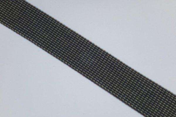 Gurtband BW Piquet schwarz/grau 40mm