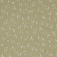 Double Gauze GOTS Forest Animals 120 g/m² ca.135 cm col.028 beige