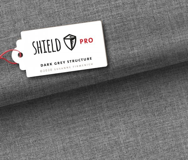 Albstoffe SHIELD Pro, uni dark grey structure by Hamburger Liebe