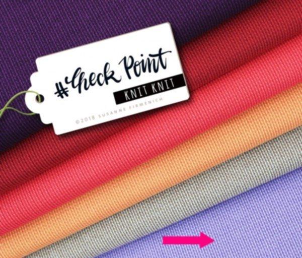 Jacquard Jersey Knit Knit, glicine/violaceo, Hamburger Liebe