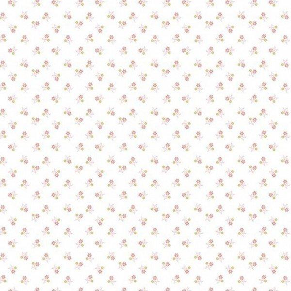 Popeline Flowers - col. 017 weiß