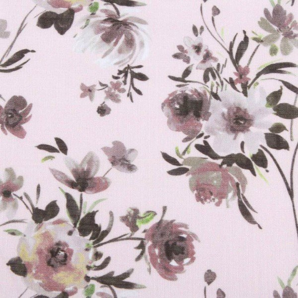 Voile Flame Print - col. UME161 Peach Pink
