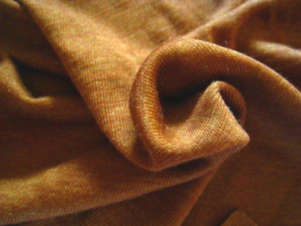 Bio Wolle/Seide Jersey - Zimt