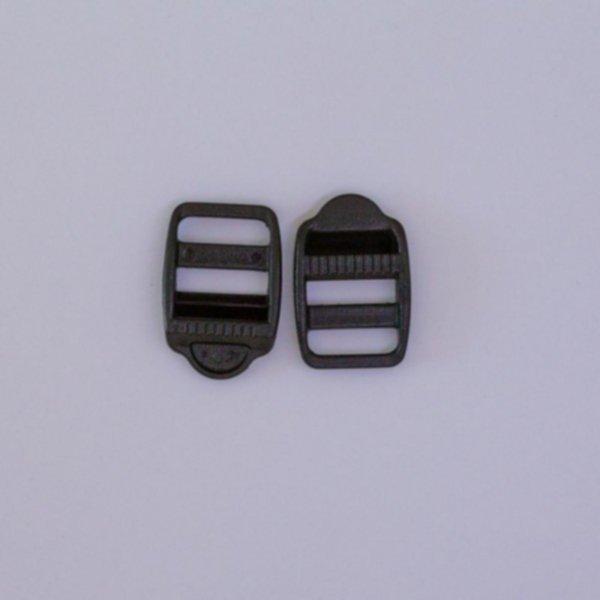 Versteller doppelt mit Zähnchen - 20mm - Schwarz