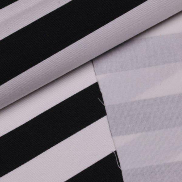 Köper Streifen breit bedruckt - schwarz-weiss