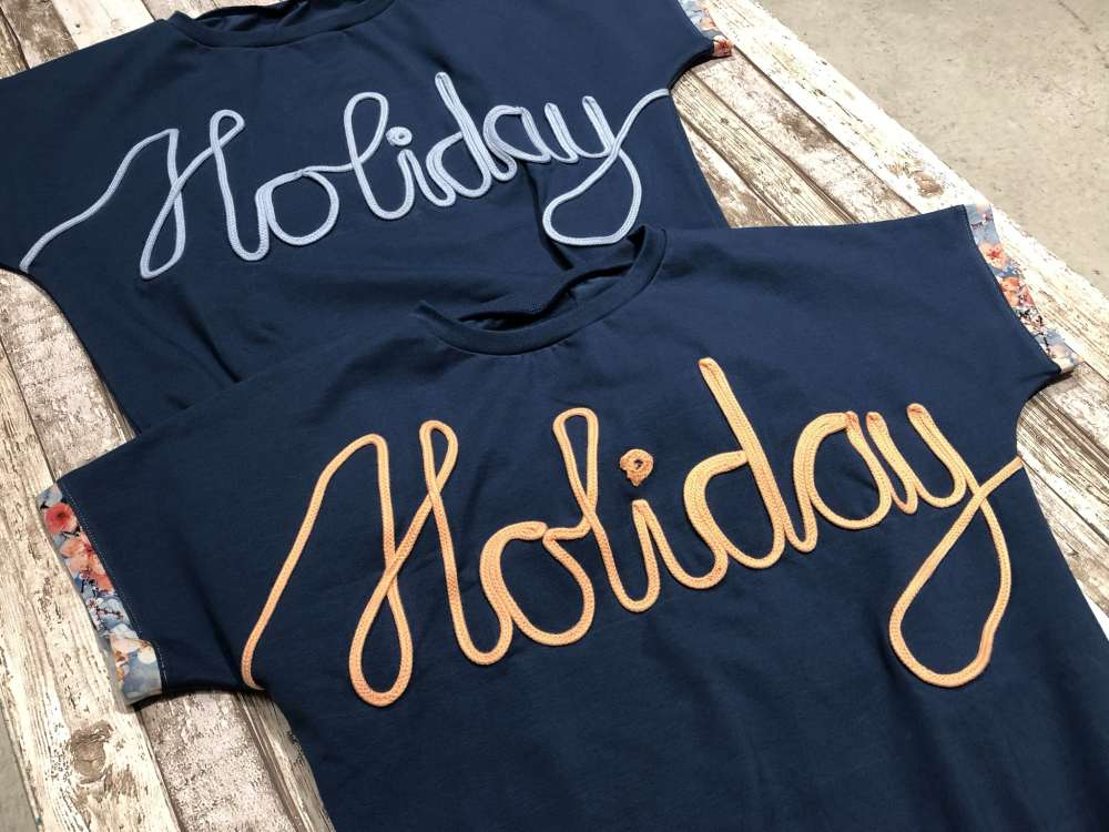 Mit Kordel nähen - Holiday