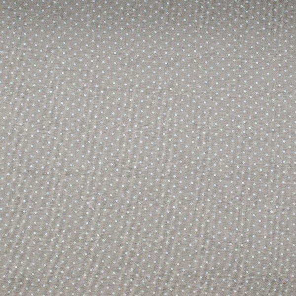 Jersey Baumwolle, hellgrau mit weissen Punkten