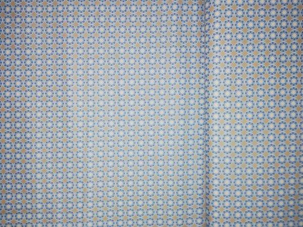 Baumwolle Gütermann gemustert blau beige