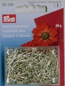 Prym Bastel-Stecknadeln Eisen 16mm, silberfarbig, Dose à 25g
